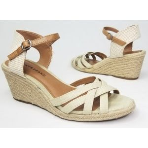 Lucky Brand Kalley Espadrille Wedges Size 8.5